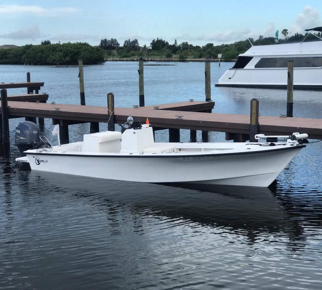 Capt.Spencer's 23' C hawk bay boat for St.Pete beach Fishing Charters