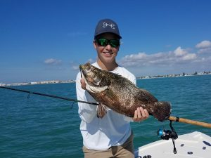 Carson's Clearwater beach triple tail caught on a nearshore fishing charter