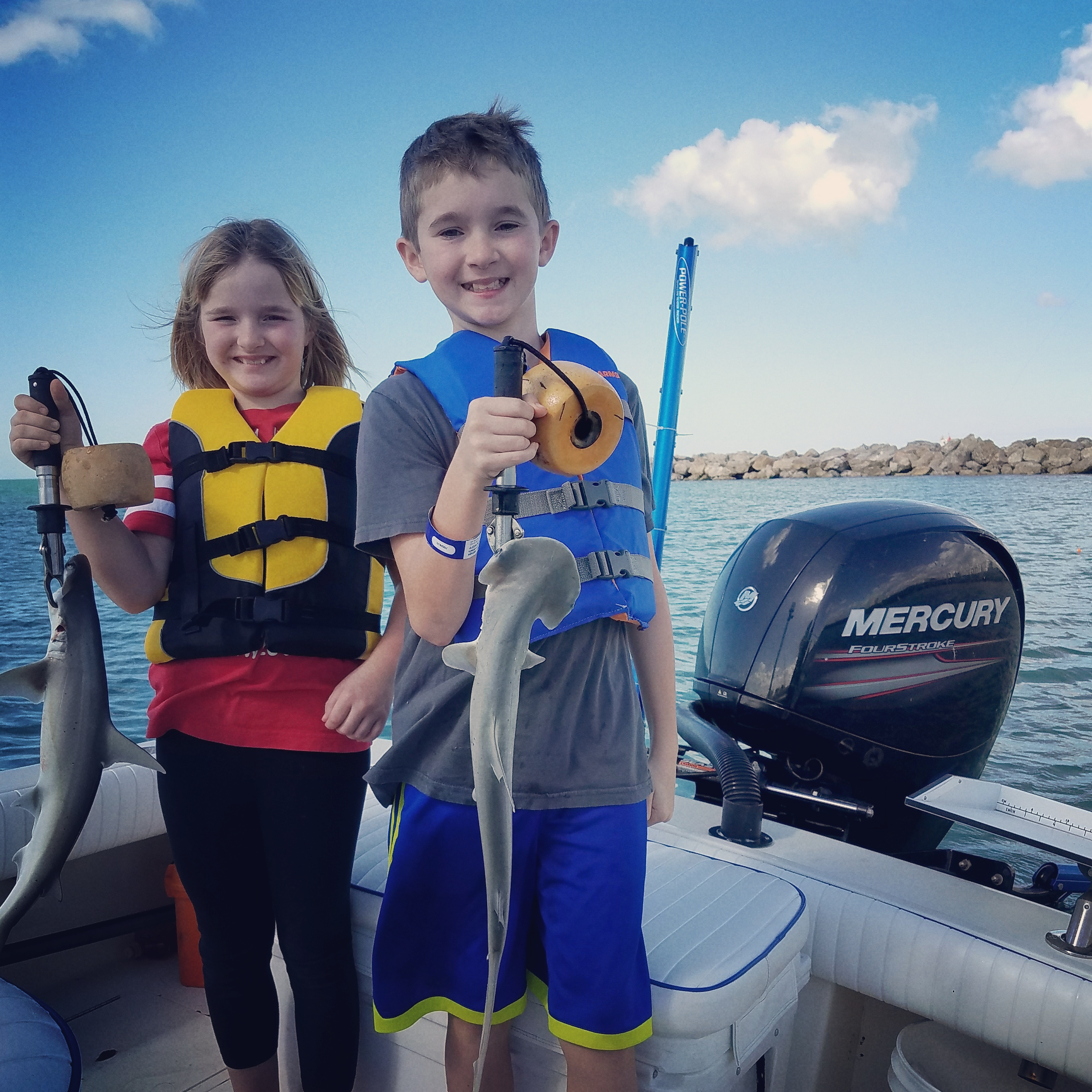 Kids Shark fishing Charters trips off clearwater beach