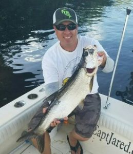 Tarpon Caught while on a Clearwater Beach fishing Charter