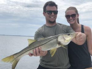 Will and Jeen Snook fishing charter out of Safety Harbor